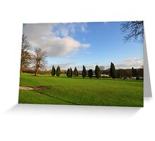 The Golf Course. Greeting Card