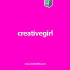 creativegirl - pink - iPhone 4 case by creativebloke