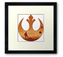 Star Wars - Rebel Alliance Logo II (Luke on Tatooine) Framed Print