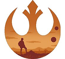 Star Wars - Rebel Alliance Logo II (Luke on Tatooine) Photographic Print
