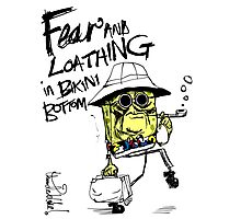 Fear and Loathing in Bikini Bottom Photographic Print