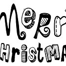 Merry Christmas - Text Design #02 by Silvia Neto