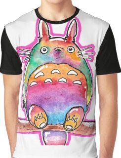 Cute Colorful Totoro! Tshirts + more! (watercolor) Jonny2may Graphic T-Shirt