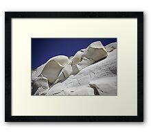 White on blue Framed Print