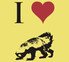 I Love Honey Badger Kids Tee