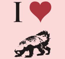 I Love Honey Badger One Piece - Long Sleeve