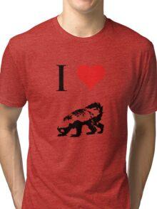 I Love Honey Badger Tri-blend T-Shirt