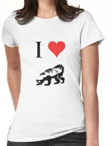 I Love Honey Badger Womens Fitted T-Shirt