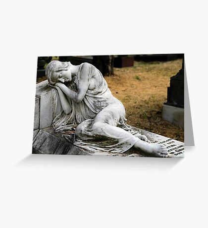 Monumental Cemetery of Staglieno, Genoa, Italy Greeting Card