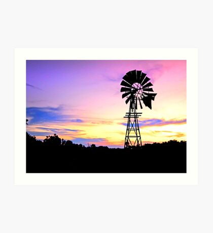 Windmill Magic - Toowoomba Qld Australia Art Print
