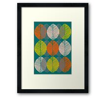Autumn Leaves (Teal) Framed Print