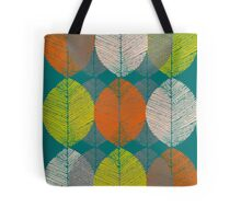 Autumn Leaves (Teal) Tote Bag