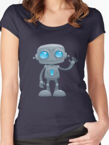 Waving Robot Women's Fitted Scoop T-Shirt