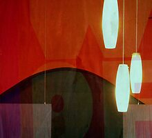 Restaurant Window Abstract by Jane Underwood