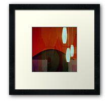 Restaurant Window Abstract Framed Print