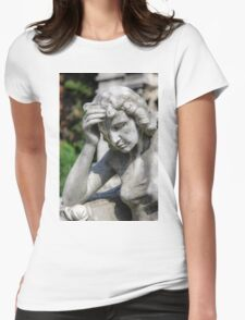 weeping angel, Monumental Cemetery  Womens Fitted T-Shirt