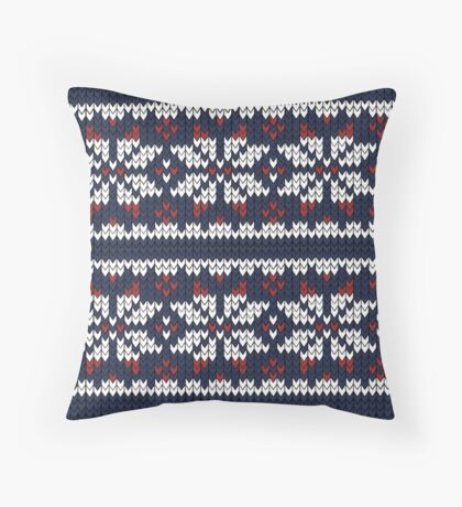 Wooly Fair Isle Jumper Throw Pillow