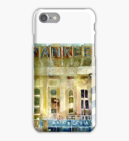Yankee Stadium, Bronx, New York Art Watercolor Print iPhone Case/Skin
