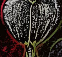White Bleeding Heart Artwork Sticker