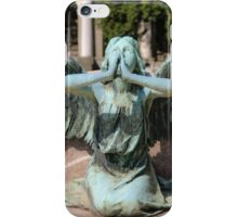 weeping angel at the Monumental Cemetery Genoa, Italy iPhone Case/Skin