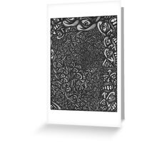 Facepage 04 - Psychedelic faces  Greeting Card