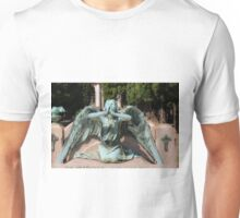 weeping angel at the Monumental Cemetery Genoa, Italy Unisex T-Shirt