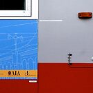 Primary Colors: Urban Bus Abstract by Jane Underwood