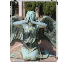 weeping angel at the Monumental Cemetery Genoa, Italy iPad Case/Skin