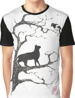 Dangerous conversations sumi-e painting Graphic T-Shirt