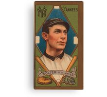 Benjamin K Edwards Collection Harry Wolter New York Yankees baseball card portrait Canvas Print