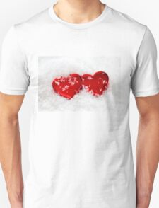 Love Hearts in Snow T-Shirt
