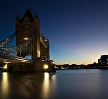 Tower Bridge at Twilight by Pirvinder Bansel