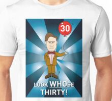 Doctor Who Card - with age 30 (2) Unisex T-Shirt