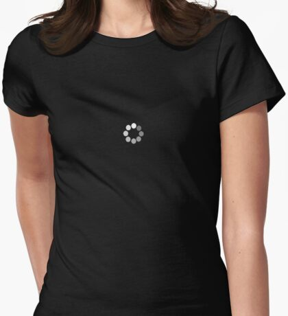 buffering...please wait Womens Fitted T-Shirt