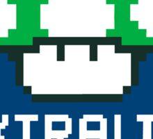 #Extra Lives Matter | Geek Gamer 1Up Mushroom with Slogan Sticker