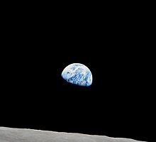 Earthrise from Apollo 8 by Jeff Vorzimmer