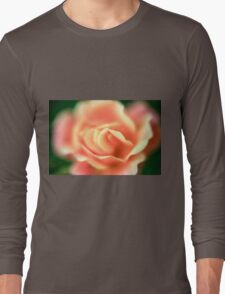 selective focus close up of a rose flower Long Sleeve T-Shirt