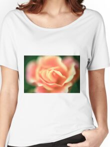 selective focus close up of a rose flower Women's Relaxed Fit T-Shirt