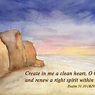 A Fresh Start- Psalm 51:10 by Diane Hall