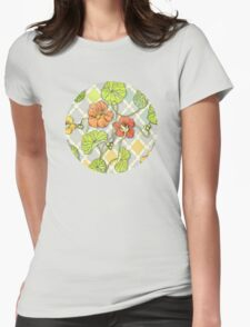 Climbing Nasturtiums in Lemon, Lime and Tangerine T-Shirt