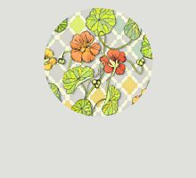 Climbing Nasturtiums in Lemon, Lime and Tangerine Womens Fitted T-Shirt