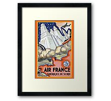 Air France 5 Framed Print