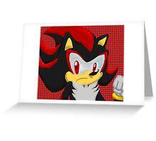 Shadow Hedgehog Greeting Card