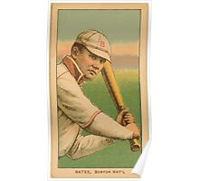 Benjamin K Edwards Collection Johnny Bates Boston Doves baseball card portrait Poster