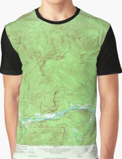 Maine USGS Historical Map Gilead 806718 1970 24000 Graphic T-Shirt