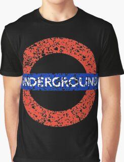 Grunge Underground Logo Graphic T-Shirt