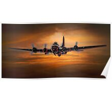 B17 Battle Scarred but Heading Home Poster
