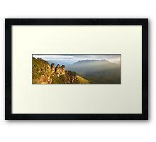 Three Sisters Sunset, Blue Mountains, NSW, Australia Framed Print