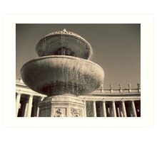 Fountain in St. Peter's Square Art Print