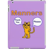 Manners Thank you Please iPad Case/Skin